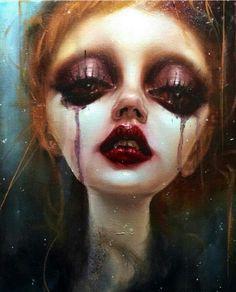 Dustin bailard #pop #surrealist #portrait #contemporary #painting #art