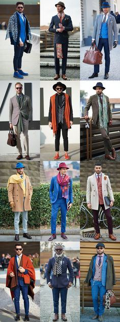 Pitti Uomo Street Style - Bold Coloured Accessories