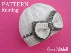Knitting PATTERN Baby Hat Baby Beanie Knitted Baby Cap Pattern for Babies Infant Girl Knitting PATTERN Only in English PDF Knitting , lace processing is one of the most beautiful hobbies that women are not able to give up. Baby Hat Knitting Pattern, Baby Hats Knitting, Knitting For Kids, Knitted Hats, Beanie Pattern, Baby Girl Hats, Girl With Hat, Baby Girls, Crochet Baby