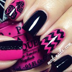 Instagram photo by modnails #nail #nails #nailart | See more nail designs at http://www.nailsss.com/...