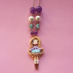 Necklace Kira in fimo polymer clay. by Artmary2 on Etsy