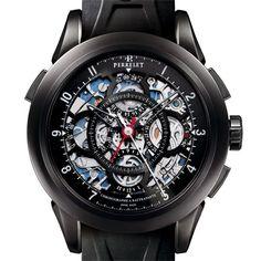 Perrelet Split Second Chronograph Skeleton Dial Automatic Mens Watch. List price: $13400