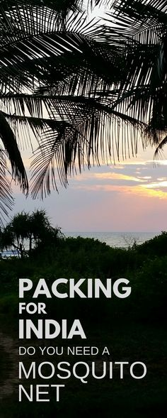 What to pack for India travel, backpacking Asia, international travel tips. Decide if mosquito net is essential to put on checklist for that packing list. Risk of malaria, dengue fever. How to avoid getting sick in India with mosquito bite prevention at budget hotels, guesthouses, on train. Also think about what to wear with clothes that keep bugs away. For travel to world bucket list destinations like Mumbai, Delhi, Rajasthan, Jaipur, Kerala, Goa, North India, South India.. #india…
