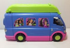 Polly Pocket 2004 Purple Party Bus Van Working Lights and Sound | eBay