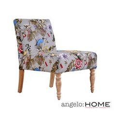 angelo:HOME Bradstreet Antique Floral Bird Armless Chair | Overstock.com