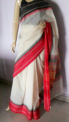 Pure handloom Bengal cotton saree