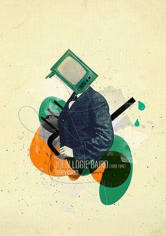 Inventors & Discoveries-illustration by Selman HOŞGÖR, via Behance