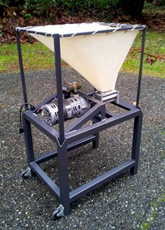 Tyson's homemade grain mill is sure to leave many homebrewers envious. With a little hard work, and some welding, this is a project anyone can try. Who does't love welding? Check out Tyson's pimped out grain mill!  #craftbeer #beer