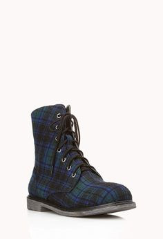 Grunge Girl Combat Boots | FOREVER21 - 2000108068