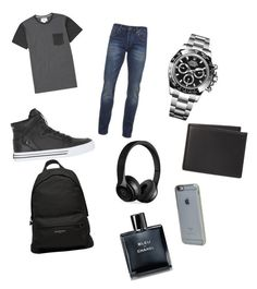 """""""Teenage Boy Outfit"""" by twdforlife ❤ liked on Polyvore featuring Billabong, Scotch & Soda, Supra, Rolex, Balenciaga, The Men's Store, Beats by Dr. Dre, Incase, Chanel and men's fashion"""