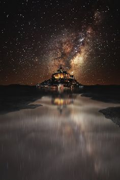 Mont Saint Michel - France by captvinvanity The particular Orion Nebula is usually a part Beautiful World, Beautiful Images, Mont Saint Michel France, Sky Full Of Stars, Milky Way, Night Skies, Beautiful Landscapes, Landscape Photography, Art Photography