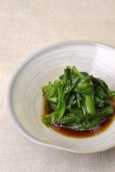 Japanese food / にらのマスタード和え (leeks seasoned with mustard and ponzu)