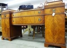 Traditional buffet with sideboard inlaid yellow oak. Price: $1,500.00 http://www.theguildshop.org/buffet H1504 01 09/13/14