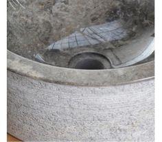 Exo håndvask i marmor til bordmontering Ø40 - Grå