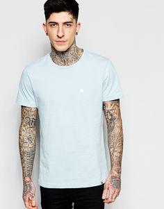 Imagen 1 de Camiseta con cuello redondo en azul cielo de Pretty Green