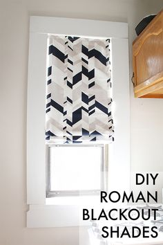 We can make anything: diy roman blackout shades diy шторы, д Blackout Roman Shades, Diy Roman Shades, Diy Blackout Curtains, Diy Curtains, Bedroom Curtains, Diy Bedroom, Bedroom Windows, Trendy Bedroom, Kitchen Curtains