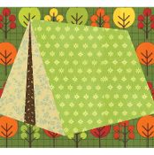 Camping Tent paper pieced quilt block - via @Craftsy