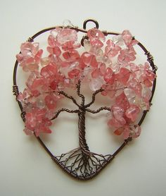 Pink Heart-Shaped Tree of Life *TRADED* by RachaelsWireGarden on DeviantArt