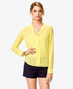 Georgette Y-Neck Top  $22.80  http://www.rebategiant.com/store/2194/forever-21.html