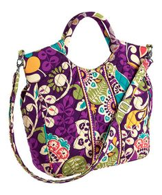50% Vera Bradley purses, totes, wallets and assercories!  Love this Plum Crazy Two-Way Tote by Vera Bradley on #zulily! #zulilyfinds
