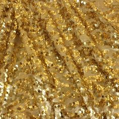 fabric depot Tulle & Two Size Sequins - Gold