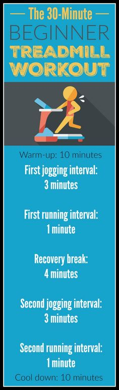 New to running or just getting back to it after a break? Here's a great beginner treadmill workout. | Fit Bottomed Girls