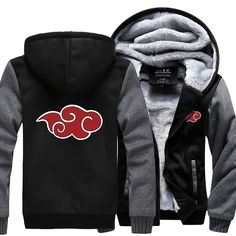 Anime Naruto Uzumaki Red Clouds - Men's Sweatshirt Jacket Hoodie