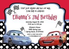 Cool Cars Birthday Invitations Ideas  Download this invitation for FREE at http://www.bagvania.com/cars-birthday-invitations.html