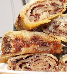 No Yeast Strudel-type cinnamon rolls (dough is actually Pie Crust)