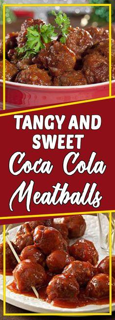 Tangy and Sweet Coca-Cola Meatballs #comfortfood #dinnerrecipes #foodlover #dinner #dinnertime #easydinner