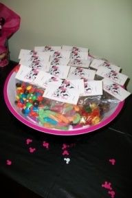 Minnie Party Favors - create new label for candy packages