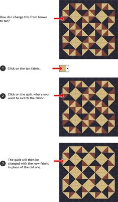 Quilt Pattern Playground - Over 1 Million Free Patterns. Change the size, fabrics, then print your quilt design. How fun