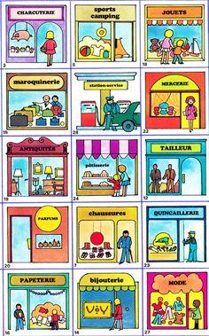 Les magasins en français - store names in French