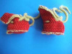 SALE Us Handmade red Baby booties Unisex baby by Solviashop