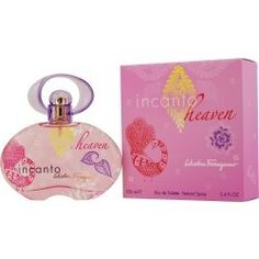 INCANTO HEAVEN by Salvatore Ferragamo EDT SPRAY 3.4 OZ by INCANTO HEAVEN. $37.50. Launched by the design house of Salvatore Ferragamo in 2008, INCANTO HEAVEN by Salvatore Ferragamo for Women posesses a blend of: Mock Orange, Grapefruit, Hibiscus, Peony, Red Apple, Musks, Iris, Apricot, Tea, Violet .. It is recommended for wear.. Salvatore Ferragamo EDT SPRAY 3.4 OZ. INCANTO HEAVEN by Salvatore Ferragamo EDT SPRAY 3.4 OZ