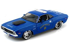 1970 Dodge Challenger R/T Coupe 1/24 Blue Police