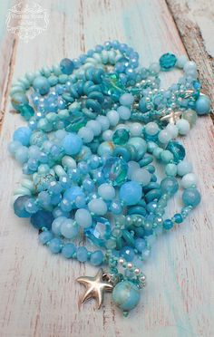 Turquoise BOHO CHIC Necklace and Bracelet, Aqua Beaded Necklace with Gemstones and Glass, Myrtos Beach Necklace by VintageRoseGallery Etsy Jewelry, Boho Jewelry, Beaded Jewelry, Beaded Necklace, Beaded Bracelets, Necklaces, Jewelry Ideas, Jewellery, Myrtos Beach