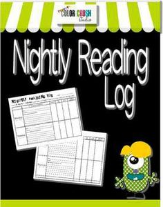 FREE Reading Log  - nicely set up and easy to use even for special education students