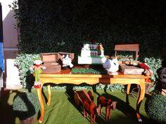 Mesa bolo tema Fazendinha Decoração de Alquimia Festas