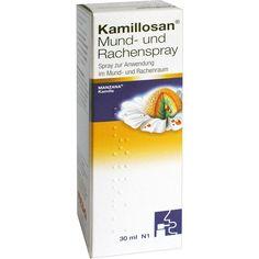KAMILLOSAN Mundspray und Rachenspray bei Halsschmerzen:   Packungsinhalt: 30 ml Spray PZN: 05973405 Hersteller: MEDA Pharma GmbH & Co.KG…