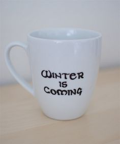"""Game of Thrones Mug with Stark Motto """"Winter is Coming"""""""
