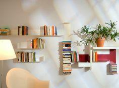GRANDE MIXTE, libreria a giorno sospesa in acciaio by TEEbooks® | design Mauro Canfori