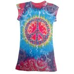 Peace multi-color junior fashion shirt