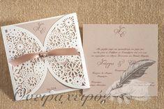 Πρωτότυπο προσκλητήριο γάμου laser cut