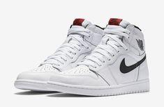 2016 Nike Air Jordan 1 Retro High OG SZ 9 White Black Yin Yang Red 555088-102