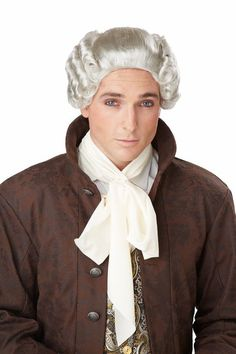 Amazon.com: California Costumes Men's 18Th Century Peruke Wig, Grey, One Size: Clothing