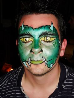 Green dragon, https://www.profiletree.com/kate-spinklesparks-dean1 #bodypainting, #tattoos, #facepainting, #colors, #canvas, #airbrush, #party, #bumppaiting, #gestational,