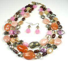 T's Accessories - Multigemstone 3-Row Necklace Set, $39.99 (http://www.tsaccessories.com/multigemstone-3-row-necklace-set/)