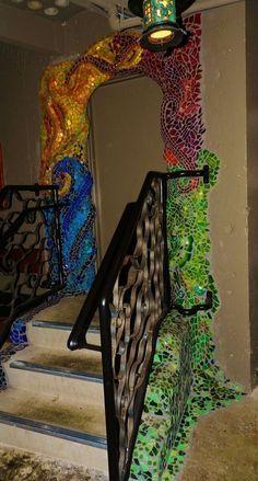Mosaic / sculpture, McMenamins Crystal Hotel
