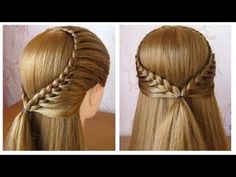 HAIR Tutorial: how to do quick & easy, side bun hairstyles for everyday, prom & wedding. Two cute updo hairstyles for long or medium hair. Pretty Hairstyles, Girl Hairstyles, Braided Hairstyles, Wedding Hairstyles, Hairstyle Braid, Amazing Hairstyles, Hairstyles For School, College Hairstyles, Hair Dos